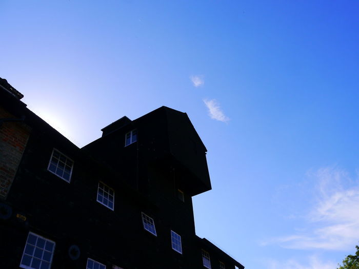 Architecture Blue Building Exterior Built Structure Day Houghton Water Mill Low Angle View National Trust National Trust 🇬🇧 No People Outdoors Sky