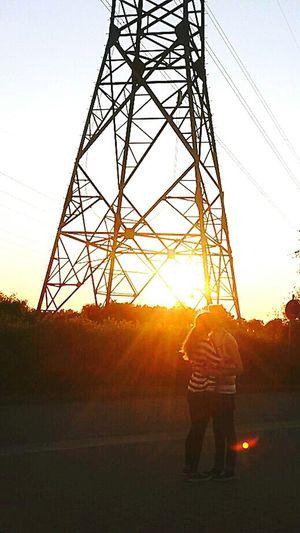 I Love My Girl  Sunset Nice Weekend Nice View