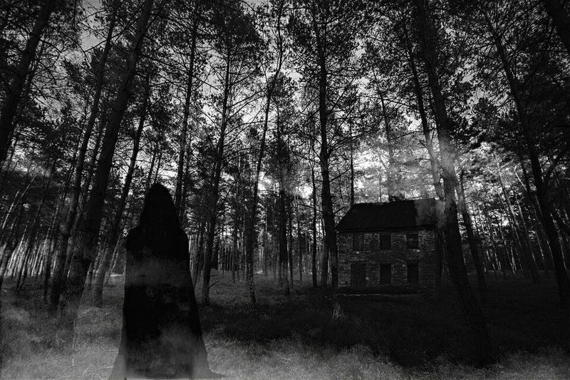 Photoshop Building Exterior No People Outdoors Nature Creepy Silent Screams Blackandwhite Layers And Textures