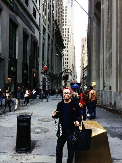 Taking Photos New York City New York Wall Street  Hello World That's Me!