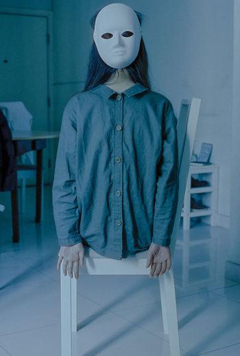 Dressmaker model at workshop