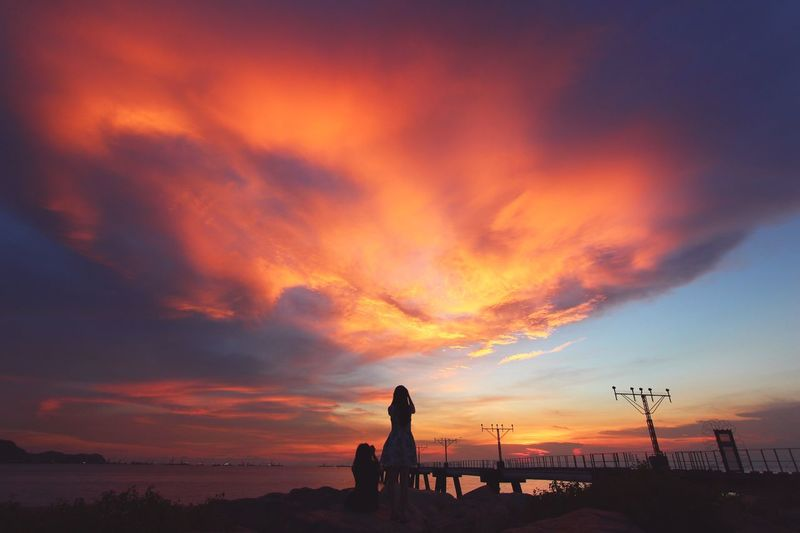 Sunset Sky Cloud - Sky Beauty In Nature Outdoors Togetherness Photography Hongkonger Photo Hong Kong EyeEm HongKong Eyeem Market Two People Portrait EyeEm Hong Kong Photographer