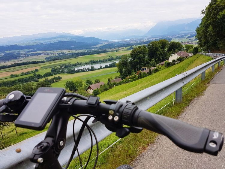 On a bicycle tour EyeEm Selects Outdoors Bicycle Adventuring The Week On EyeEm Beauty In Nature Switzerlandpictures Fahrradtour Bicycle Trip Gerzensee VEO-Bike Second Acts Transportation Mountain Landscape Mountain Range