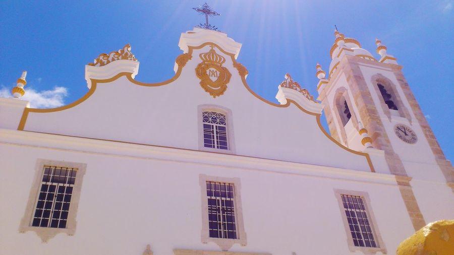 Portugal / Portimão 2012 Bom Dia! Portugal Portuguese Portimão, Portugal Church Eye Em Travel Make Magic Happen Sunshine Sunny Day Blue Sky Sunlight
