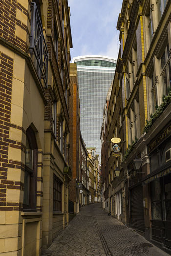 20 Fenchurch Street (The Walkie-Talkie) from Lovat Lane, London, England, United Kingdom Architecture Building Building Exterior Built Structure City Day No People Outdoors Sky