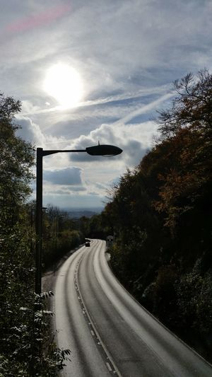 No People Outdoors Nature Day Road Motion The Way Forward Sky Cloud - Sky Tree Transportation Walking Tranquility Reigate Hill Surrey