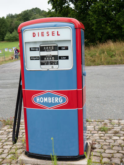 LWL Open Air Museum Detmold Text Communication Western Script Day Red Refueling Gas Station Transportation No People Nature Outdoors Fuel And Power Generation Fuel Pump Road Gasoline Number Mode Of Transportation Fossil Fuel Sign Information Open Air Museum Detmold