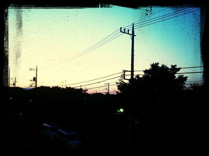 今日空が綺麗だった♡
