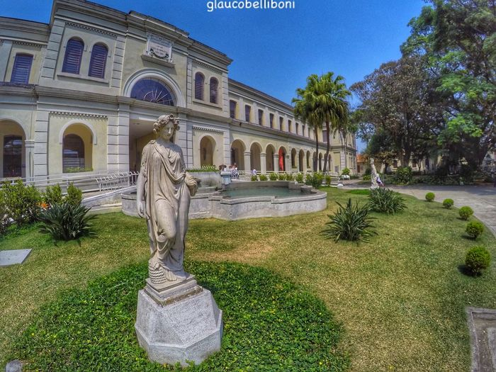Museu do Imigrante Statue Architecture Sculpture Built Structure Building Exterior Architectural Column Outdoors City EyeEm Gallery Urban Landscape Architecturephotography Sao Paulo - Brazil São Paulo, Brasil Memorial Do Imigrante Brazil Museum Architecture_collection Go Pro Hero 4 Go Pro Photography