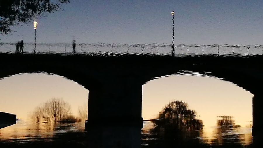 Water Reflection Sky Silhouette France🇫🇷 EyrEmNewHere Bridge - Man Made Structure Architecture River Architectural Column Sunset Tree