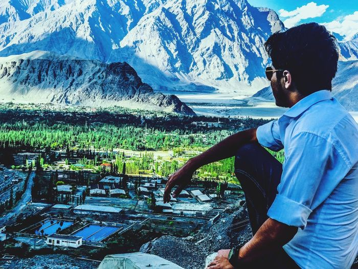 View of skardu city from top Arial Shot Skardu Pakistan EyeEmNewHere EyeEm Best Shots EyeEm Gallery Casual Clothing Sunglasses Day Fashion Nature Outdoors Side View