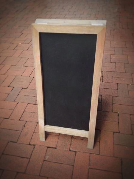 Advertising Background Black Blackboard  Blank Board Customer Stopper Empty Marketing No People Outdoors Sandwich Board Sign Street