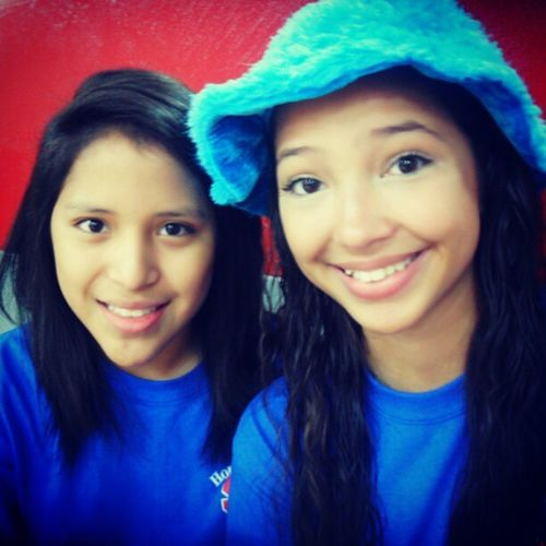 Jackie and I Sophmores Colorday Blueblueblue Homecoming @jaqueline_duran