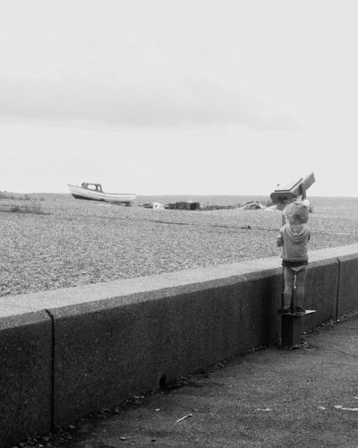 ~ Lovey Little Girl Beatiful Beach Sea Fun Freedom England Boat Sand ~ EyeEmBestPics EyeEm Gallery EyeEm Best Shots EyeEm Nature Lover EyeEm Best Shots - Black + White Monochrome Photography Monochrome Lost In The Landscape Connected By Travel