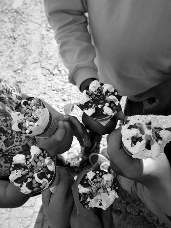 Ice Cream Childrens Gelato Helados Black And White Black & White Monochrome
