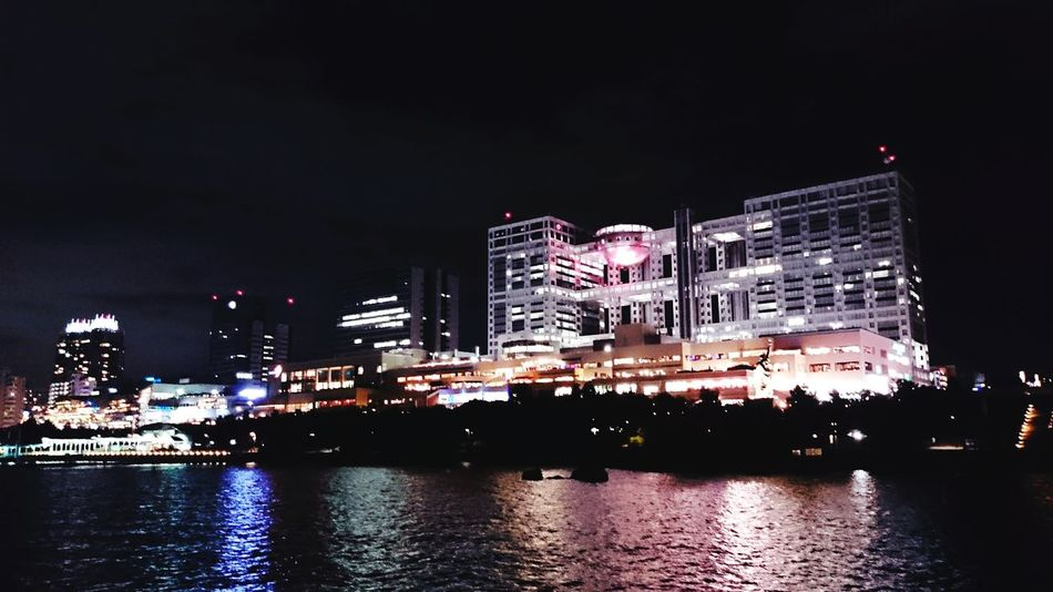 Night Sea Building Night Lights Mobilephotography お台場!