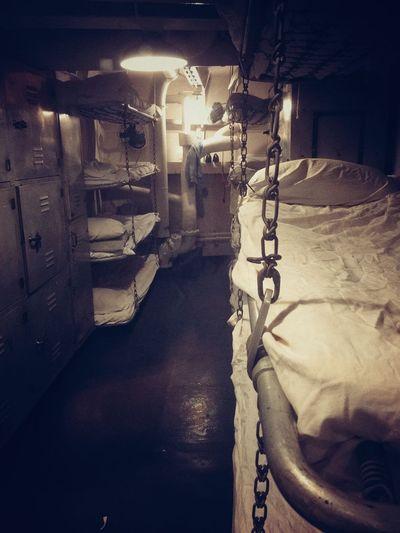 USS North Carolina Battleship Vintage Sleeping Quarters Bunk Rack Bed