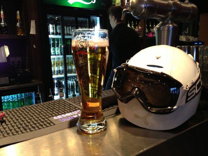 Downhill Skiing Helmet Beer vacation