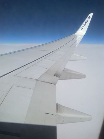 White Aerial View Blue Over The Clouds Ryanair Sky Blue Sky's The Limit White Clouds Wing Airplane Wing