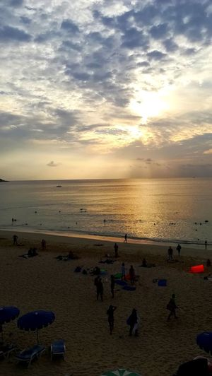 Thai Memories... EyeEm Best Shots EyeEm Nature Lover Sunsets Clouds And Sky Clouds Travel Photography Thailand Sunset_collection Beach Sunset Sea Water Sand Horizon Over Water Nature Vacations Beauty In Nature Scenics Reflection Silhouette Tranquility Sky Cloud - Sky Outdoors Sun