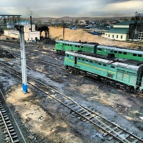 Борзя  ржд  Россия  тепловоз 2тэ116 станция железка Забайкалье railway station rzd borzya Russia travel instarzd steppe