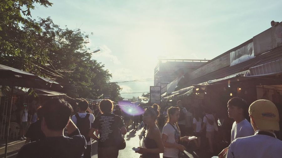 Thai Market Shopping ♡ Sunny Dirty Loud Tent Walk People And Places