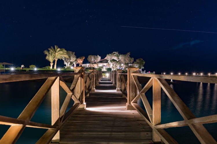Vacation Summer Holiday Leasure Activity Night Illuminated Water Wood - Material Outdoors Bridge The Way Forward