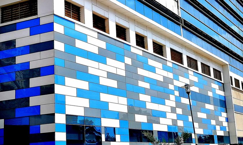 First Eyeem Photo Modern Adana Turkey City Image Colors White Blue Grey TheCity No People Symmetrical