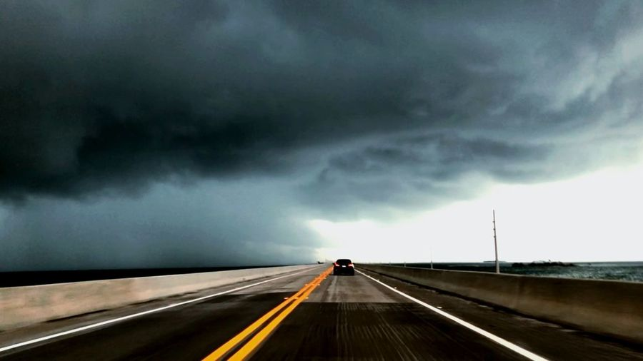 Highwayone Weather Cloud - Sky Transportation Road Sky Sign Storm Mode Of Transportation Storm Cloud Thunderstorm Car Nature Highway Overcast Beauty In Nature Dramatic Sky The Way Forward