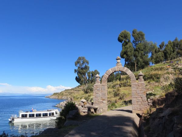 Day Blue Architecture Nature Built Structure Tree Water History No People Clear Sky Outdoors Sea Beauty In Nature Building Exterior Sky Lake Titicaca Peru Travel Destinations Ancient Civilization Amantaní Amantani Island