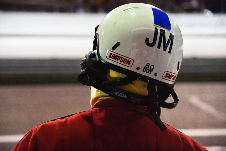 Focus On Foreground Headwear Helmet Headshot Real People Outdoors Day Men One Person Sports Race Close-up People Indy Race Pit