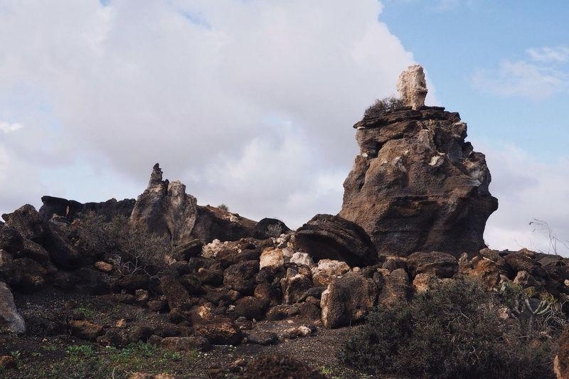 Lava sculpture