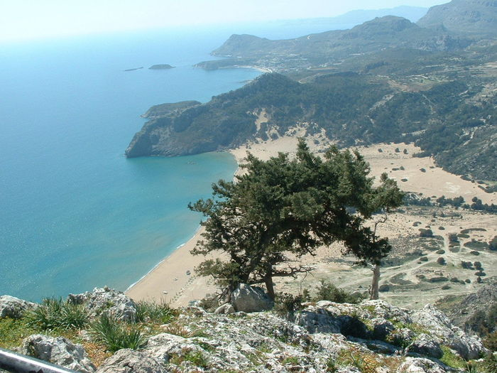 Beauty In Nature Sea And Sky View Beach View Panoramic Views EyeEmNewHere Rhodes Greece Tsambika