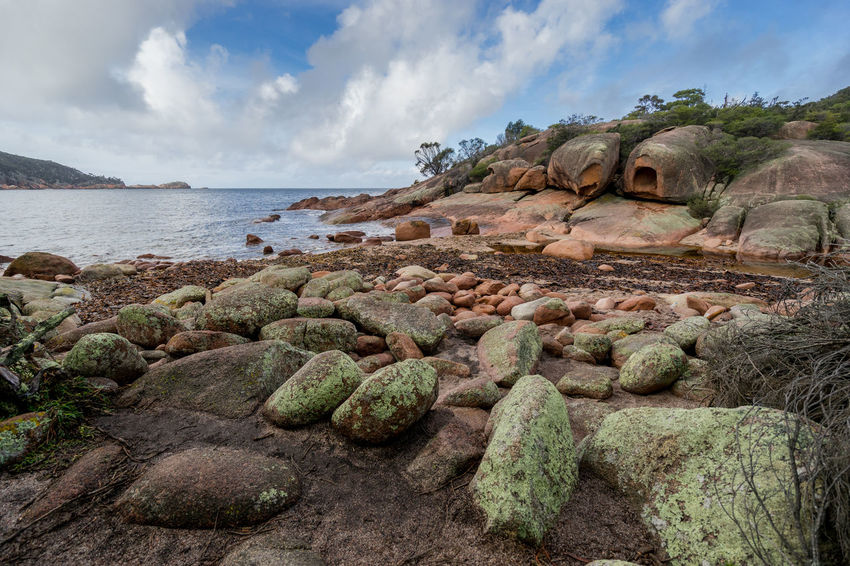 Sleepy Bay, Freycinet National Park, Tasmania, Australia. Australia Australian Australian Landscape Coles Bay National Park Sleepy Bay Beauty In Nature Cloud - Sky Day Freycinet Freycinet National Park Landscape Nature No People Outdoors Physical Geography Rock - Object Scenics Sea Sky Tasmania Tassie Tranquility Water