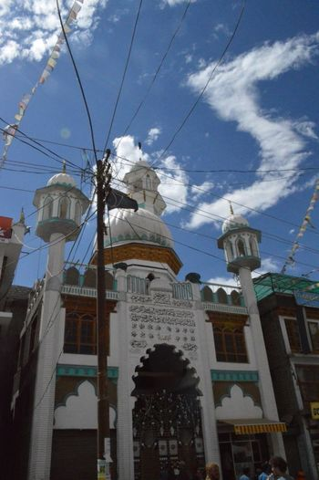 Snapshots from Leh City, August 2016. Architectural Column Architecture Beautiful Mosque Bottomview Building Exterior Built Structure City Cityscape Cloud - Sky Day Dome Human Representation Leh Ladakh.. Mosque Mosques Of The World No People Outdoors Sculpture Sky Statue Travel Destinations