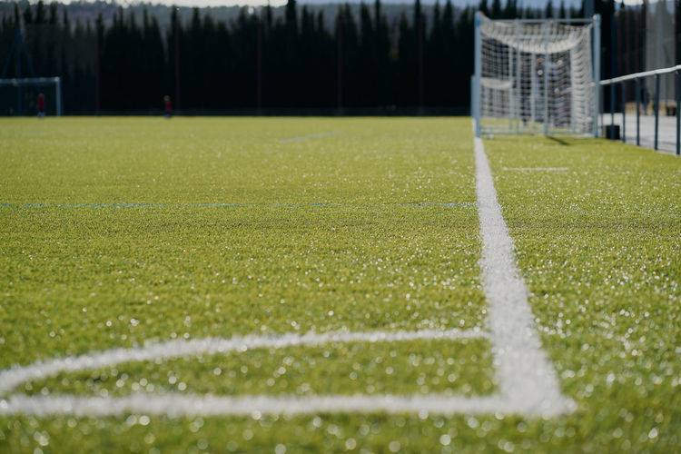 Surface level of soccer field