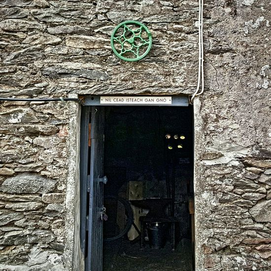 No entry without business Dingle Dingle Peninsula Ireland🍀 Irelandinspires Old Ireland Irelandseye Kerry Old Door Old Buildings Old Irish House Ireland Days Gone By Beauty Redefined History 1916 Ireland Nil Cead Isteach Gan Gno Stone Cottage Stone House Old Stone Houses Eire Beautiful ♥ Tranquility