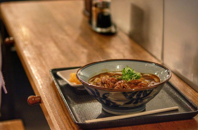 curry ramen Table Bowl Close-up Food And Drink Soup Bowl Soup Noodle Soup Stew Ramen Noodles Temptation Noodles Serving Size Prepared Food Chopsticks Casserole