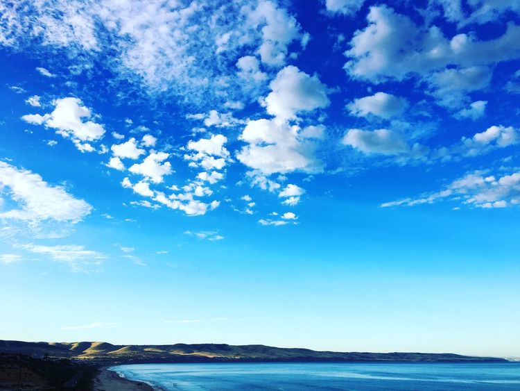 Sky Blue Nature Cloud - Sky Sea Scenics Beauty In Nature Day Water No People Tranquility Outdoors Landscape