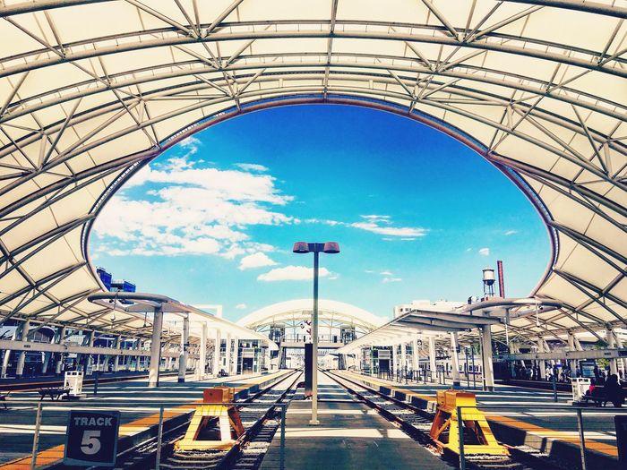 Union Station - Denver Scenics Outdoors Unique Shot Blue Sky Denver Art No People Built Structure Denver Train Station Train Station Platform Unionstation Architecture City Life Cityscapes