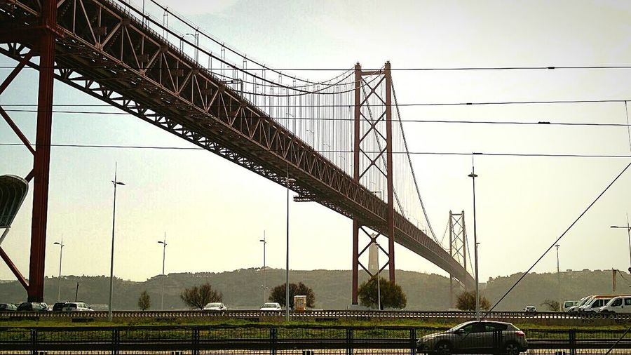 LG G4 Car Mode Of Transport Land Vehicle Road Bridge - Man Made Structure Steel Cable Engineering Cable Connection Lissabon, Portugal