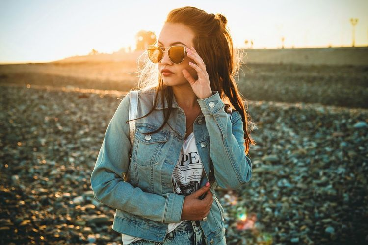 Katya Sunset Young Adult Adult Outdoors One Person Summer Happiness Nature People Day Beauty In Nature Real People Young Women