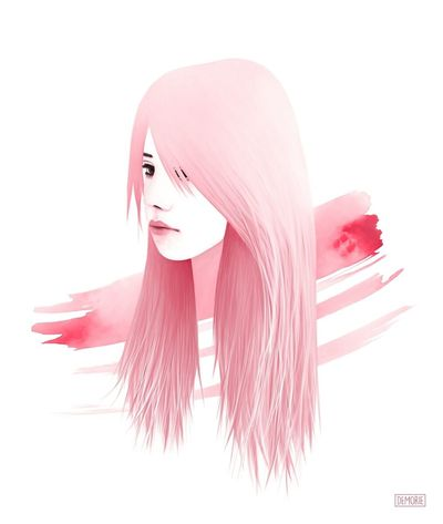 """""""The Lines Between Us"""" People Beauty White Background Pink Color Portrait Painting Drawing ArtWork Printing Illustration Girl Art Gallery Photoshop Digital Art Artist Drawings Sketch Creativity My Artwork Watercolor Adult Illustation Young Adult ınstagram Young Women"""