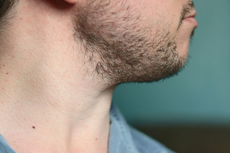 Close-up One Person Body Part Beard Men Human Body Part Human Face Facial Hair Human Skin Skin Real People Young Adult Headshot Stubble Young Men Portrait Indoors  Adult Human Hair Contemplation Chin