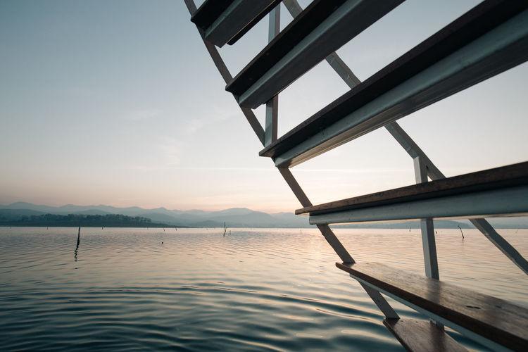 Wooden Ladder At Lake