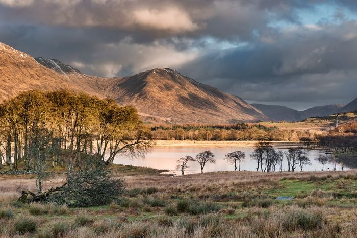 Reflection Dramatic Sky Cloud - Sky Mountain Tree Beauty In Nature Lake Sunset Tranquility Nature No People Colours Colors Mountain Peak Landscape Outdoors Color Sky Water Argyll Scotland Loch Awe Loch