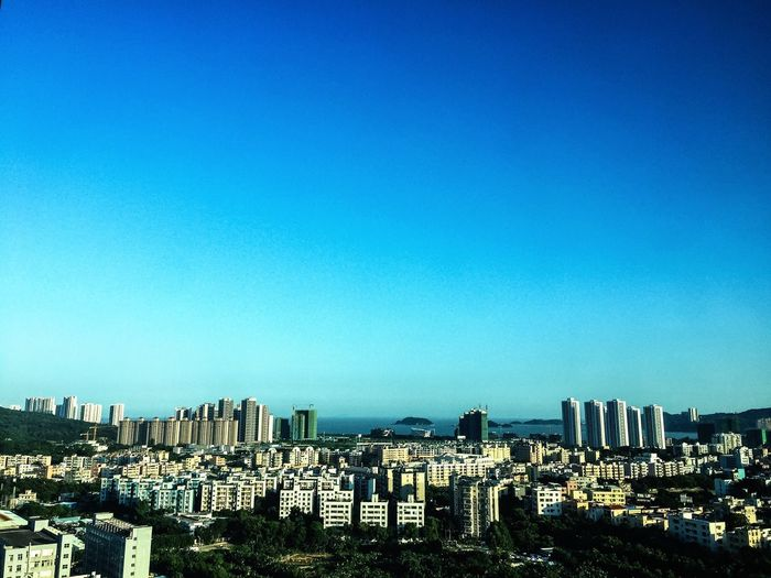 Zhuhai China Tangjia Landscape Cityscape City Ocean Sea Sea And Sky Blue Blue Sky Sunset Evening Check This Out Hello World Buildings Architecture