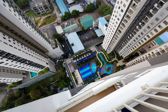 Pool View, Colombo, Sri Lanka Aerial View Architecture Building Exterior Built Structure City City Life City Life Cityscape Down High High Angle View No People Pool Skyscraper Swimming Swimming Pool Urban Skyline