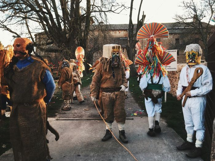 Carnival Crowds And Details Colourful Large Group Of People Outdoors Real People Day Carnival LeonEsp  SPAIN Antruejo Masks Tradition Traditional Carrizo De La Ribera Rural Scene Rural Rural Spain The Street Photographer