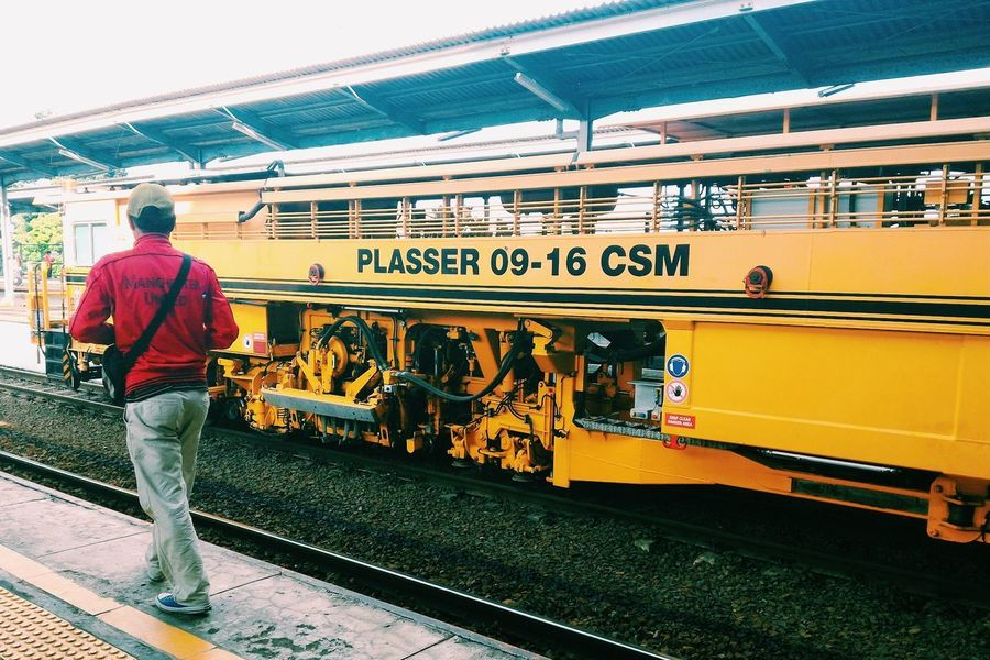 VSCO Red And Yellow Railroad Station Platform INDONESIA